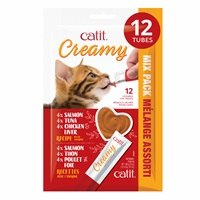 Catit Creamy Lickable Cat Treat - Assorted Multipack - 12 pack