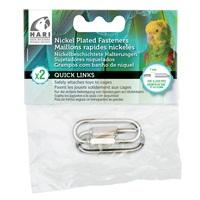 HARI Quick Links Nickel-Plated Fasteners - 2 pack - Medium - 7 mm