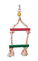 Living World Junglewood Bird Toy - 2-Step Rope Ladder - Small