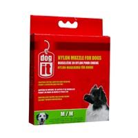 """Dogit Nylon Dog Muzzle - Black - Medium - 14 cm (5.5"""")"""