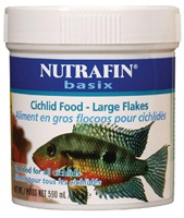 Nutrafin basix Cichlid Food - Large Flakes - 85 g (3 oz)