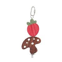 Living World Nibblers Wood Chews - Strawberry & Mushroom on Stick