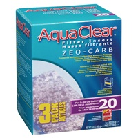 AquaClear 20 Zeo-Carb Filter Insert - 165 g (5.8 oz) - 3 pack