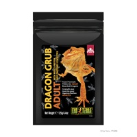 Exo Terra Dragon Grub Insect Formula Pellets for Adult Bearded Dragons - 125 g (4.4 oz)
