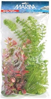 Marina Aquascaper Plastic Plants - Hairgrass (12.5 cm/5 in) - Ambulia (37.5 cm/15 in) & Two Red Ludwigia (20 cm/8 in & 30 cm/12 in)