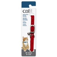 Catit Adjustable Nylon Collar - Red - 20-33 cm (8-13 in)