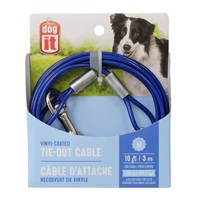 Dogit Tie-Out Cable - Blue - Medium - 3 m (10 ft)