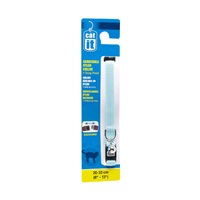 "Catit Adjustable Nylon Cat Collar with Breakaway Snap - Blue - 9.5 mm (3/8"") x 20 cm-33 cm (8-13"")"
