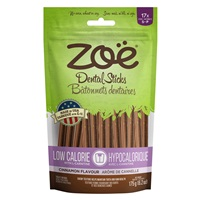 Zoë Dental Sticks for Dogs – Low Calorie - Cinnamon Flavour - 175 g (6.2 oz)
