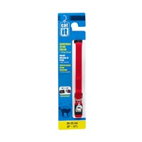"Catit Adjustable Nylon Cat Collar with Breakaway Snap - Red - 9.5 mm (3/8"") x 20 cm - 33 cm (8-13"")"