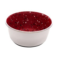 Dogit Stainless Steel Non-Skid Dog Bowl - Red Speckle - 950 ml (32 fl.oz.)