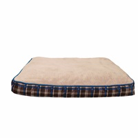 Dogit DreamWell Dog Mattress Bed - Rectangular - Blue Tartan - 91 x 71 x 12.7 cm (36 x 28 x 5 in)