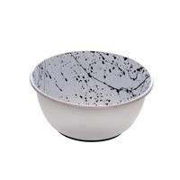 Dogit Stainless Steel Non-Skid Dog Bowl - Black & White Splash - 500 ml (17 fl.oz.)