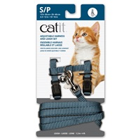 Catit Adjustable Nylon Harness & Leash Set - Light Blue - Small