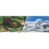 "Marina Double Sided Aquarium Background - Aqua Garden/Bright Stone - 30.5 cm x 7.6 m (12"" x 25 ft)"