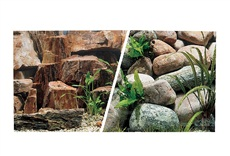 "Marina Double Sided Aquarium Background - Rocky Canyon/Riverbed - 45.7 cm x 7.6 m (18"" x 25 ft)"