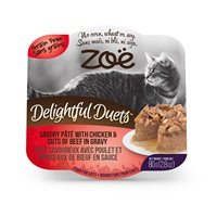 Zoë Delightful Duets Savory Pâté with Chicken & Cuts of Beef in Gravy - 80 g (2.8 oz)