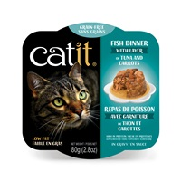 Catit Fish Dinner with Tuna & Carrots - 80 g (2.8 oz)
