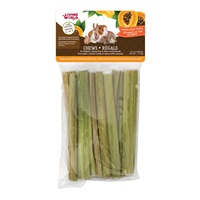 Living World Small Animal Chews - Papaya Stalk Sticks - 10 pieces