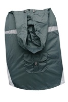 Dogit 2010 Spring/Summer Collection - Nylon Raincoat with Removeable Hood - Charcoal - XLarge