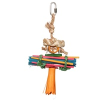 HARI Rustic Treasures Bird Toy Rasta Man - Small