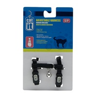 Catit Adjustable Nylon Cat Harness - Black - Small