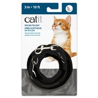 Catit Nylon Tie-out - Black - 3 m (10 ft)