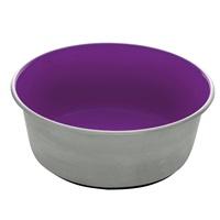 Dogit Stainless Steel Non-Skid Dog Bowl - Purple - 1.15 L (39 fl.oz.)