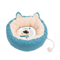 "Catit Vesper Cat Bed - Large - Blue - 50 x 50 x 20 cm (19.6"" x 19.6"" x 7.8"")"