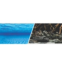 "Marina Double Sided Aquarium Background - Sea Scape/Natural Mystic - 45.7 cm x 7.6 m (18"" x 25 ft)"