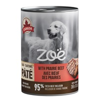 Zoë Pâté with Prairie Beef for Dogs – 369 g (13 oz)