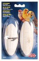 "Living World Cuttlebone with Holder - Small - 12.5 cm (5"") - Twinpack"
