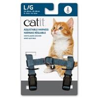 Catit Adjustable Nylon Harness - Light Blue - Large