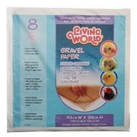 Living World Gravel Paper - Large - 8 pack - 40 cm x 39 cm (15.75 x 15.5 in)
