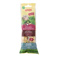 Living World Hamster Sticks - Vegetable Flavour - 112 g (4 oz) - 2 pack