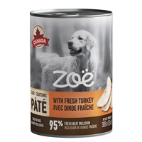 Zoë Pâté with Fresh Turkey for Dogs – 369 g (13 oz)