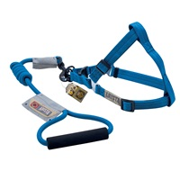 Arista Round Harness & Leash Set - Small - Deep Blue