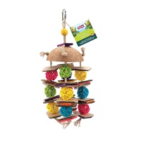 Living World Tropical Trove Coconut with Wicker Balls Bird Toy