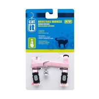 Catit Adjustable Nylon Cat Harness - Pink - Medium