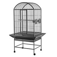 HARI Dome Top Parrot Cage - Silver Antique Black - 71 L x 56 W x 159 H cm (28 in x 22 in x 62.5 in)