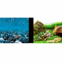Marina Double-Sided Aquarium Background - Stoney River/Japanese Garden Scenes - 30.5 cm H x 7.6 m L (12 in H x 25 ft L)