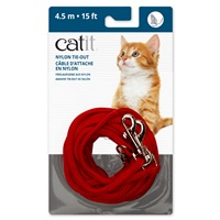 Catit Nylon Tie-out - Red - 4.5 m (15 ft)