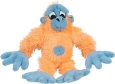 "Dogit ""Puppy Luvz"" Plush Dog Toy with Squeaker - Orange Gorilla - 22 cm (9"")"