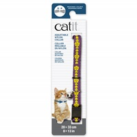 Catit Adjustable Breakaway Nylon Collar - Purple with Flowers - 20-33 cm (8-13 in)