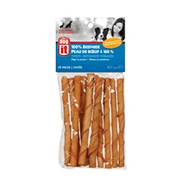 Dogit Beefhide Twisted Chew Sticks - Chicken 'n Cheese Flavour - 80 g (2.8 oz) - 10 pack