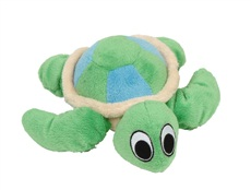 """Dogit """"Puppy Luvz"""" Plush Dog Toy with Squeaker - Green Turtle - 22 cm (9"""")"""