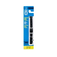 "Catit Buckle Nylon Cat Collar - Black - 9.5 mm (3/8"") x 20 cm-33 cm (8-13"")"