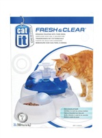 Catit Design Fresh & Clear Cat Drinking Fountain with Food Bowl - 3 L (100 oz)