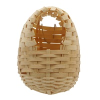 "Living World Bamboo Bird Nest for Finches - Large - 14 cm x 11 cm x 16 cm (5.5"" x 4.3"" x 6.25"" in)"