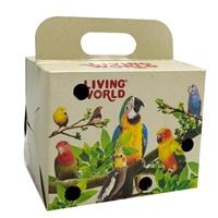 Living World Bird Carrier Cardboard Box - 10 x 10 x 13 cm (4 x 4 x 5 in)